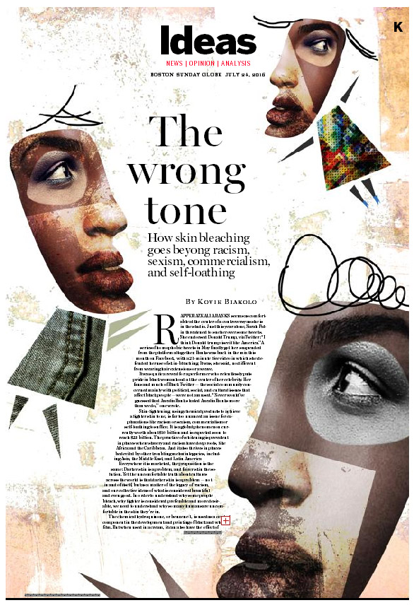 """The Wrong Tone"" Illustration. Joanna Szachowska for Boston Globe"